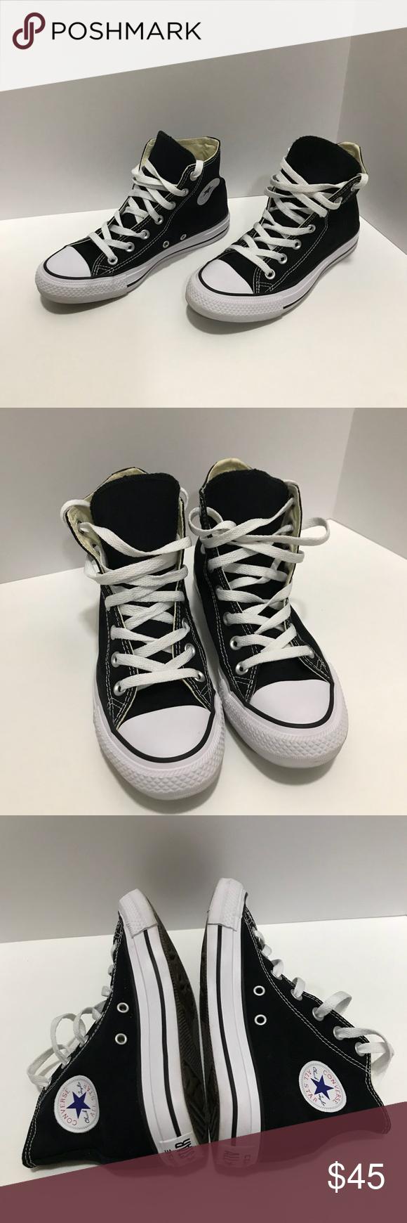 da7b30e9c306 Black Converse high tops size 4 mens