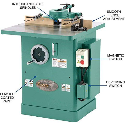 Grizzly G1026 Shaper, 3 HP - Power Table Saws Circular Saw Table ...