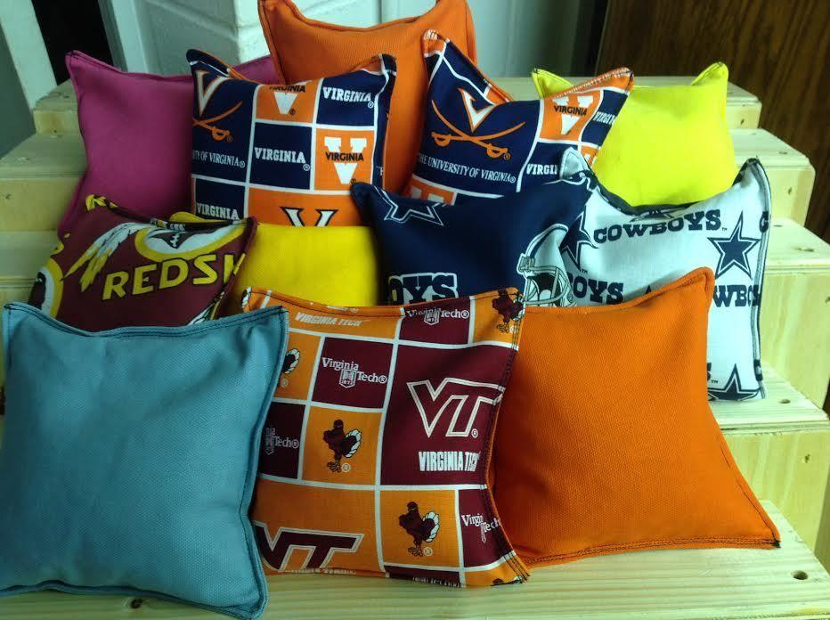 Custom Made Corn Hole Bags From Great Bridge Furniture. Call 757 482 6622
