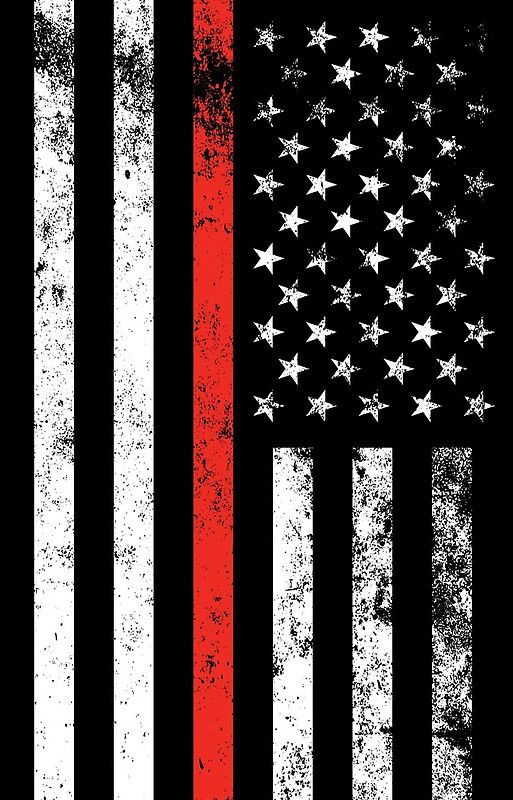 Patriotic Firefighter Style Thin Red Line Flag iPhone Case & Cover