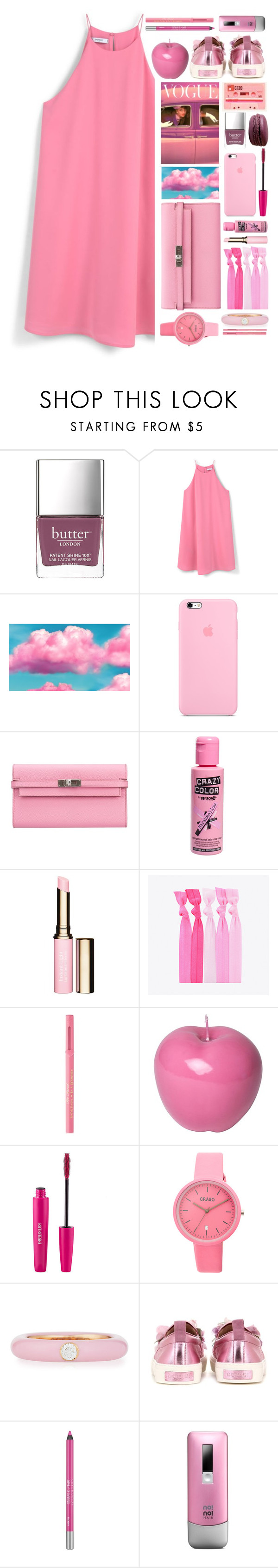 """Who you callin' princess?"" by brynhawbaker ❤ liked on Polyvore featuring Butter London, MANGO, Hermès, Clarins, Popband, Too Faced Cosmetics, Bitossi, Crayo, Adolfo Courrier and Gucci"