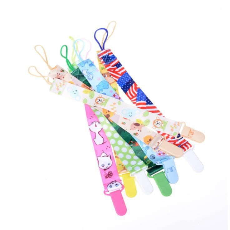 1X Baby Infant Pacifier Soother Nipple Ribbon Leash Strap Chain Clip Holder new.