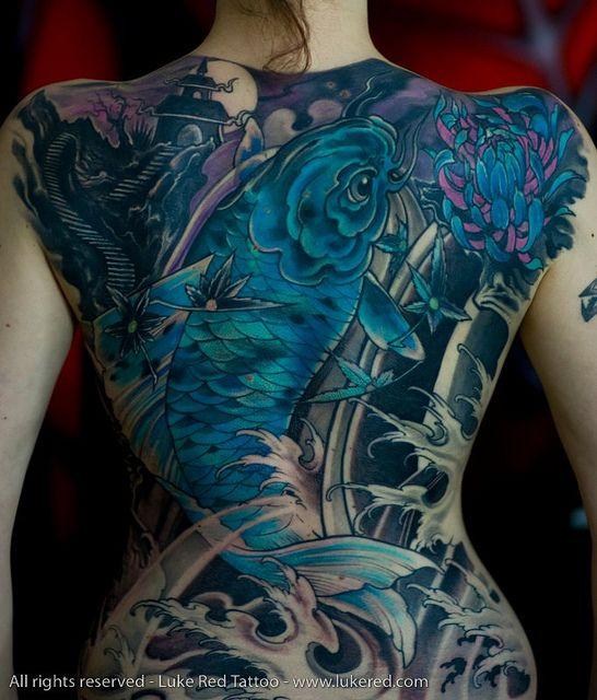 Kobrax Girl Back Tattoos Girl Tattoos Japanese Koi Fish Tattoo