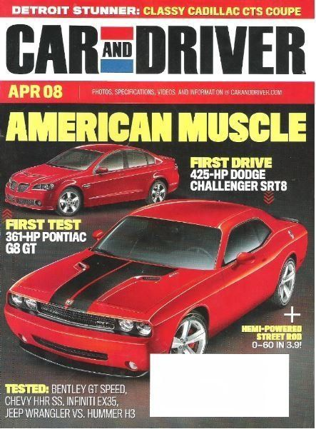 Car And Driver American Muscle April 2008 Magazine 3 00 Car And Driver Car Chevy Hhr