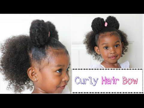 Day 20 Cute Hairstyle For Curly Hair Kids Youtube Girl