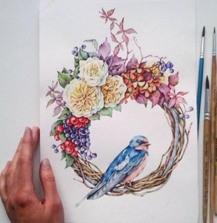 58 Ideas Tattoo Bird Woman Flower