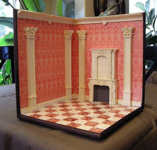 1 12 Scale Corner Room Box Room Box Miniatures Room Box Doll House Crafts