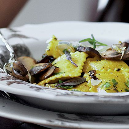 Thanks to store-bought ravioli, Butternut Squash Ravioli with Mushrooms comes together quickly. Offer this indulgent ravioli as a side...