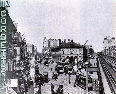 Herald Square....before Macy's, circa 1893.