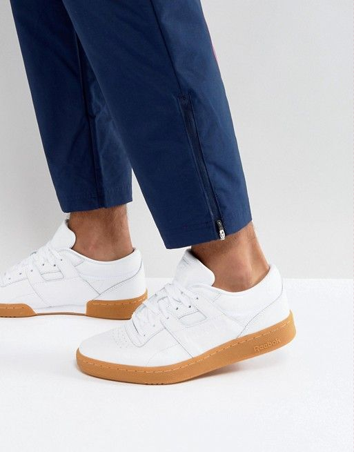 Reebok Club Workout Gum Sole Sneakers In White BS6205