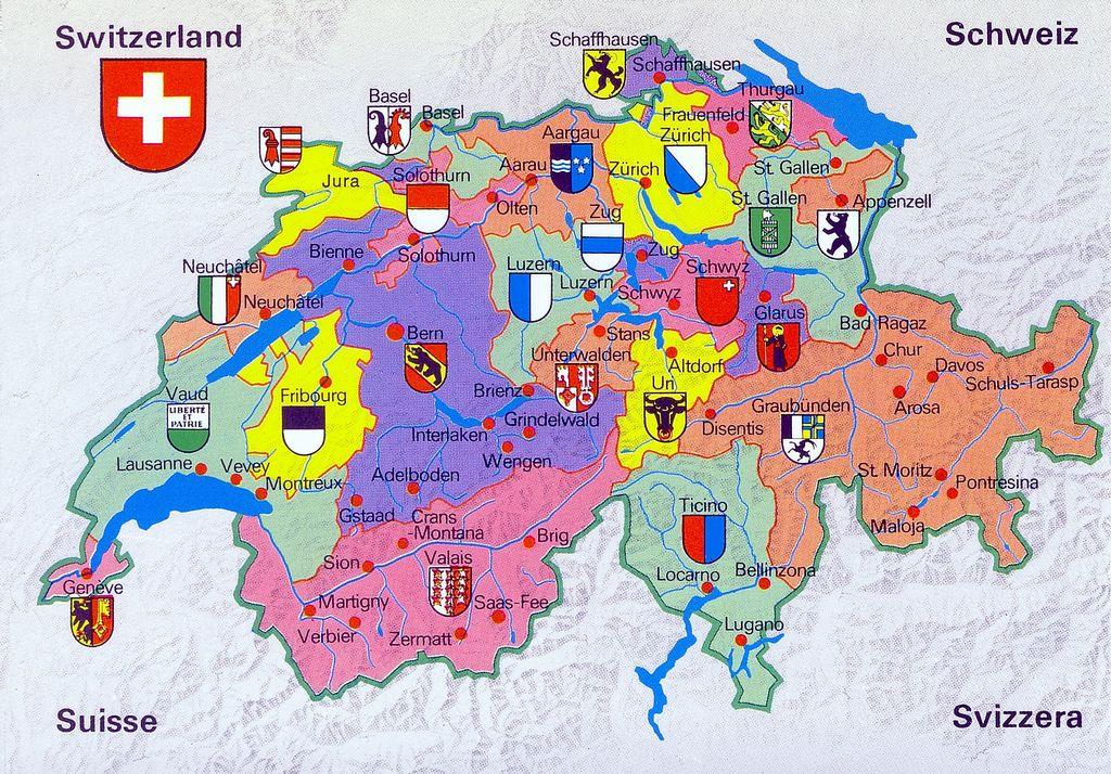 Switzerland Mapcard In 2020 Map Map Of Switzerland Lucerne