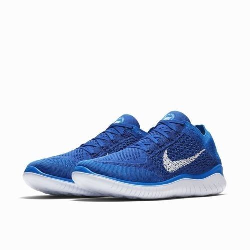 15af93440be7 Nike Free RN Flyknit 2018 Mens Running Shoes 14 Game Royal Photo Blue White   Nike  RunningShoes