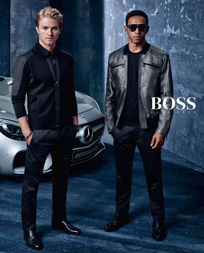 lewis hamilton nico rosberg front boss by hugo boss f1. Black Bedroom Furniture Sets. Home Design Ideas