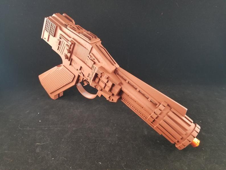 ONE-OFF 3D Printed Prop Q2 ELG-3A Padme Amidala Blaster Pistol