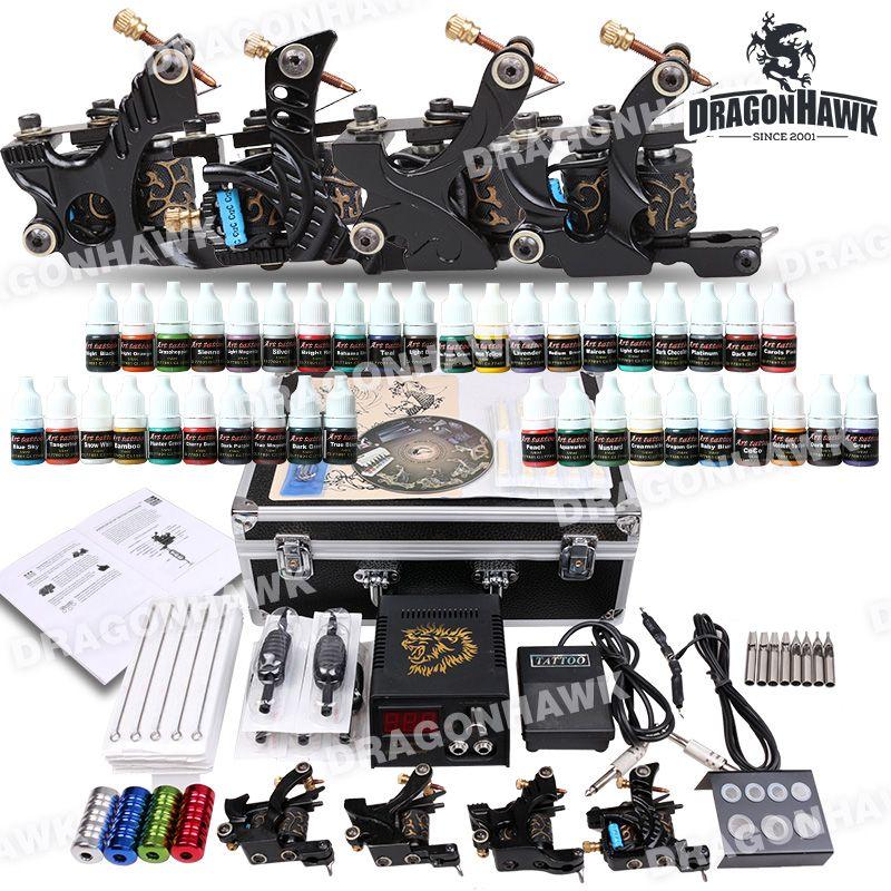 Complete Tattoo Kit 4 Machines Guns 40 Ink Power Set