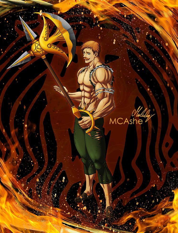 Escanor Artwork By Mcashe Anime 7 Pecados Capitales King