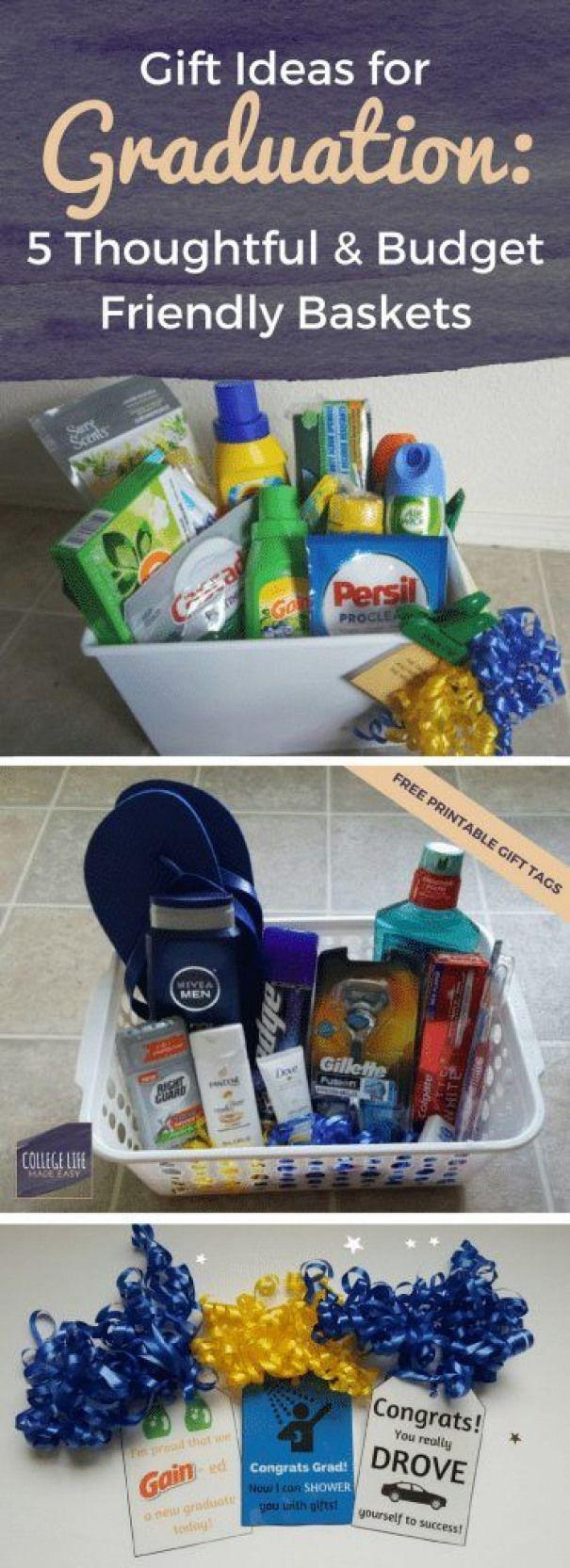5 DIY Going Away to College Gift Basket Ideas for Boys #collegegraduation #college #graduation #boyfriend #boyfriendgiftbasket
