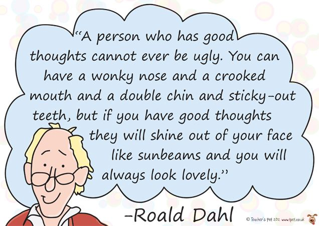 Teacher's Pet Displays » Roald Dahl Quote Poster No 2 » FREE ...