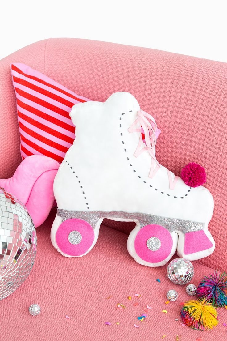 Diy roller skate throw pillow with images roller