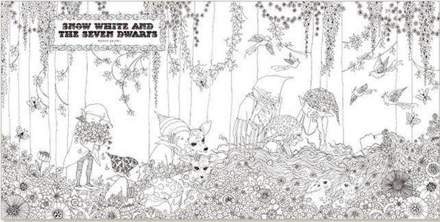 Fairy Tale 96p250250 Mm MADE IN KOREA Secret GardensColoring BooksFairy