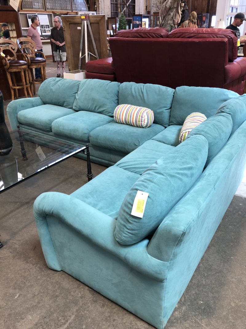 Classic Galleries Turquoise Sectional Sofa Price 1010 00 On 8 1