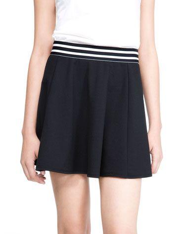 Sailor style skirt from Bershka.