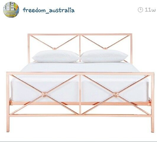 Freedom rose gold bed pleeeeeaaasseee bedroom ideas for Zimmer dekoration rosegold