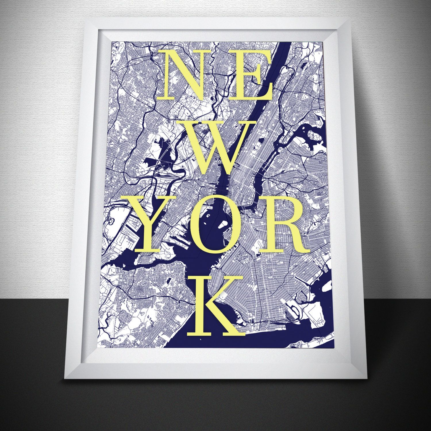 New York Map NYC Map Print Street Map Art By MappedMoments On - Nyc map to print