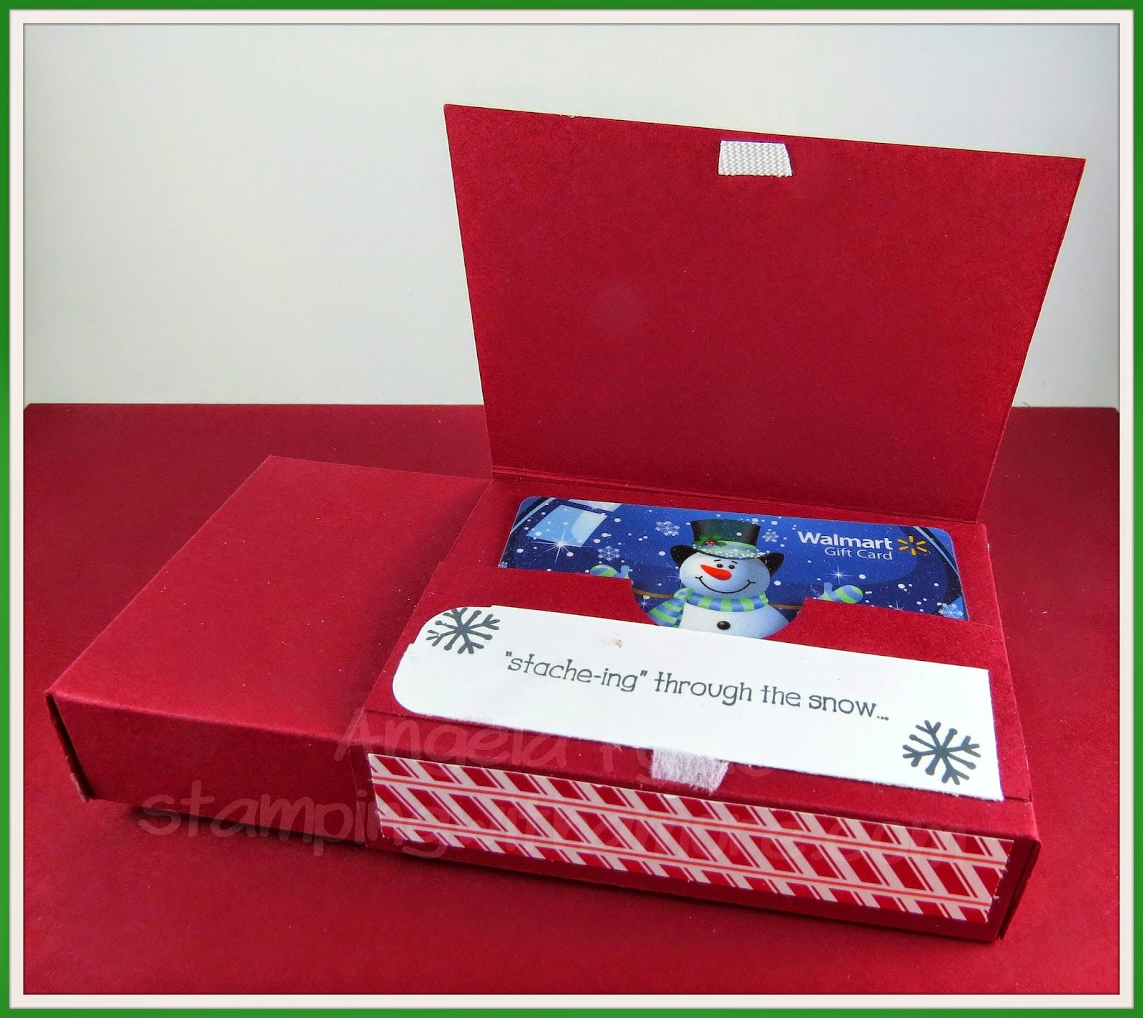 Stamping With Amore Santa Gift Card Treat Box Hanukkah Too With