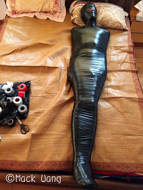 Latex tape mummification