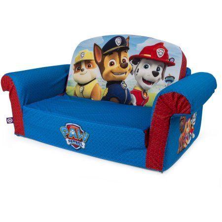 Kids Toddlers Flip Open Sofa Sleeper Bed Bedroom Playroom Furniture