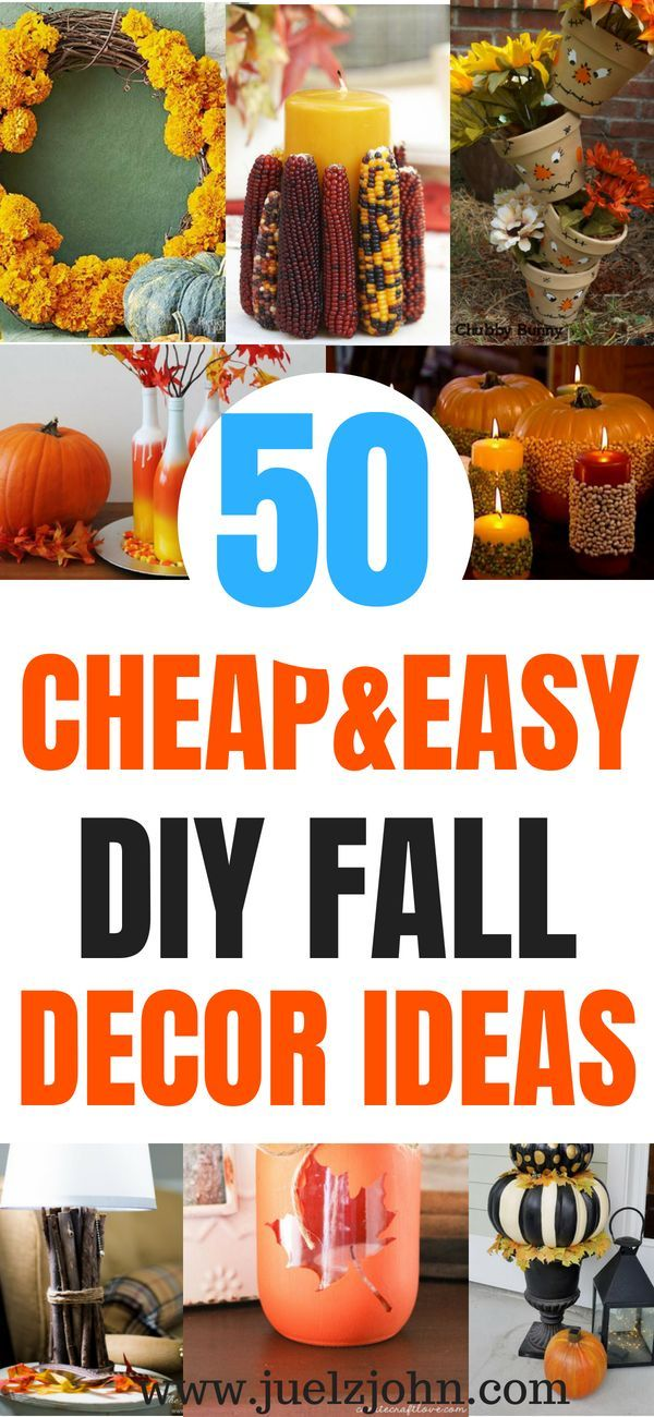 50 Cheap and easy DIY Fall decor ideas images