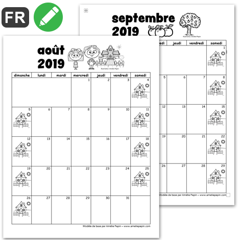 Calendrier Aout 2020.2019 2020 Calendrier 1re Cycle 2 Versions Calendrier