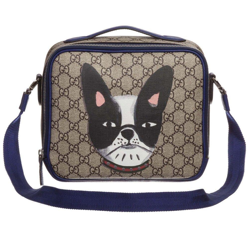 fa93ca3b76ad Gucci Beige Canvas Dog Print Lunch Bag (22cm) at Childrensalon.com ...