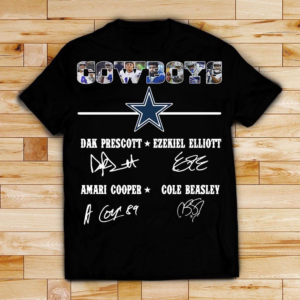 Dallas Cowboys Dak Prescott Ezekiel Elliott Amari Cooper Cole Beasley shirt 50fd17d0b