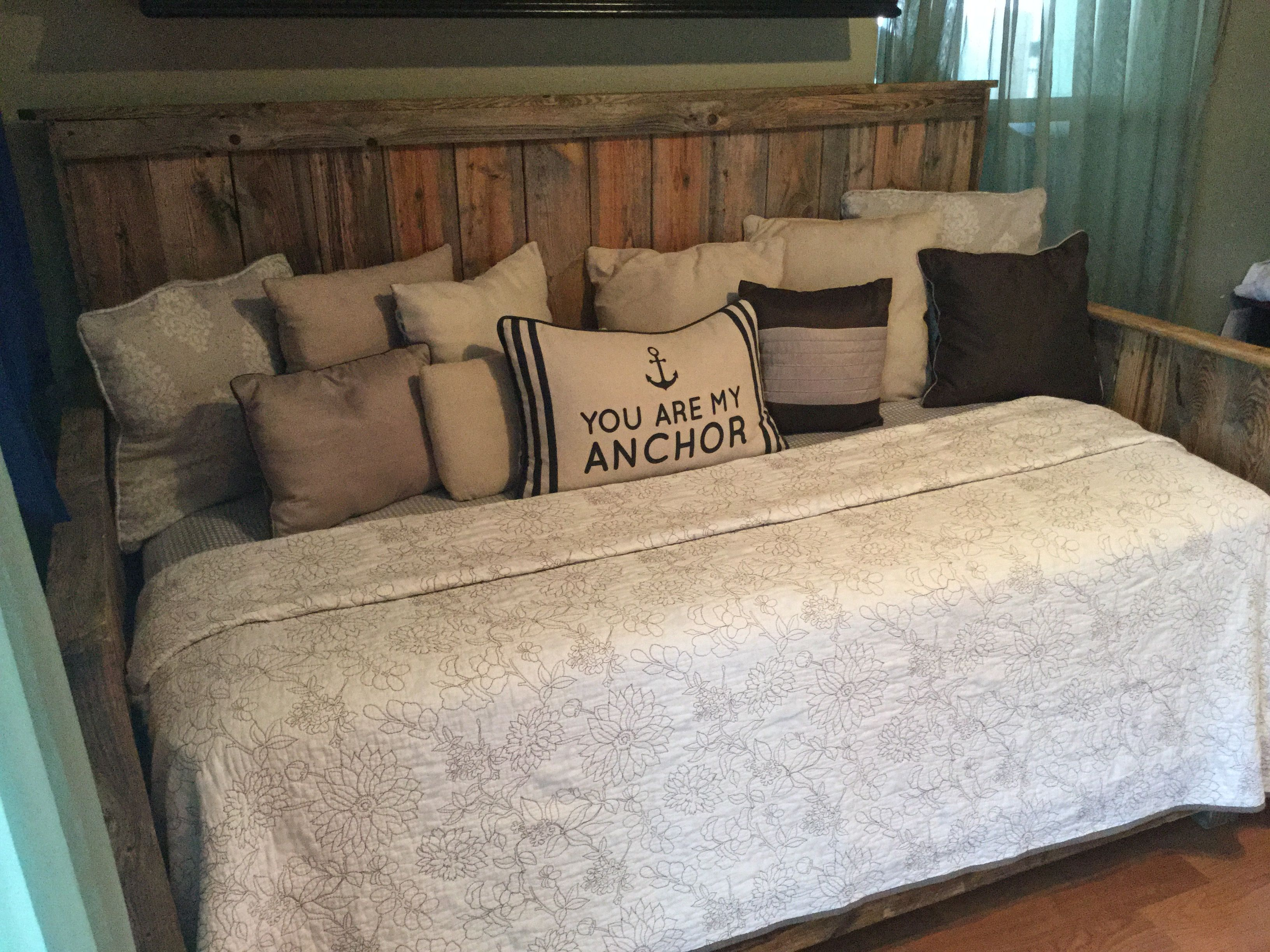 Barnwood Basics In San Antoniou0027s Gorgeous Reclaimed Wood Day Bed. Find Us  On Facebook!