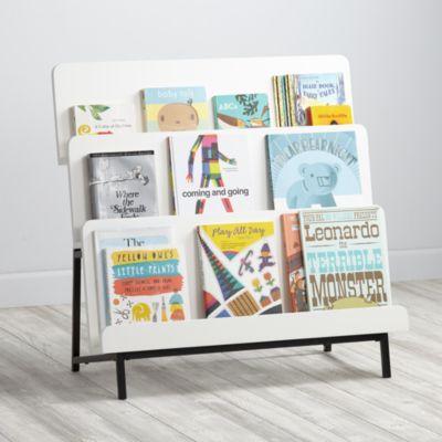 New Issue Modern Bookcase White Black Base The Land Of Nod
