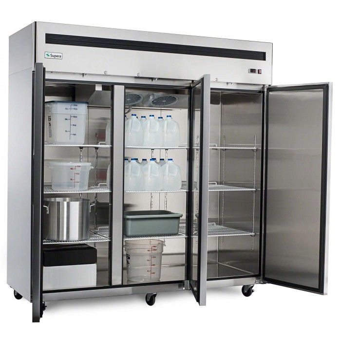 Restaurant Kitchen Refrigerator stay organized with commercial refrigerator accessories such as