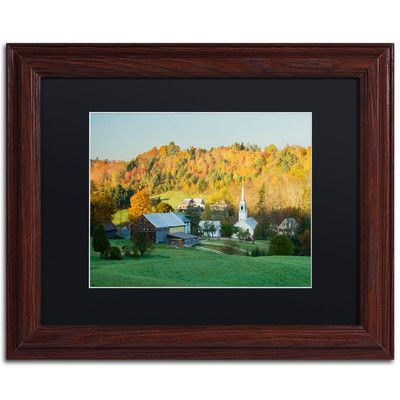 "Trademark Art 'Fall Pastoral' by Michael Blanchette Framed Photographic Print Size: 11"" H x 14"" W x 0.5"" D, Matte Color: Black"
