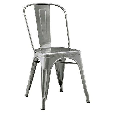 walker edison metal café chair gun metal target dine