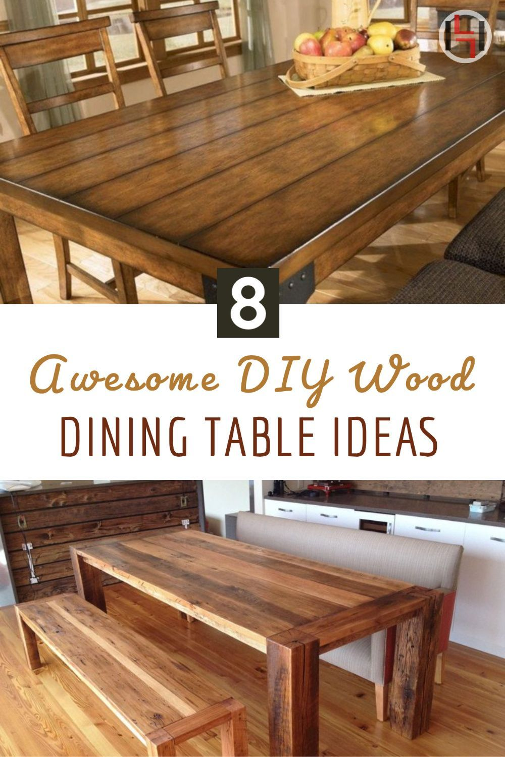 8 Awesome Diy Wood Dining Table Ideas To Make More Comfort Homagz Dining Table Beautiful Dining Rooms Wooden Dining Room Table