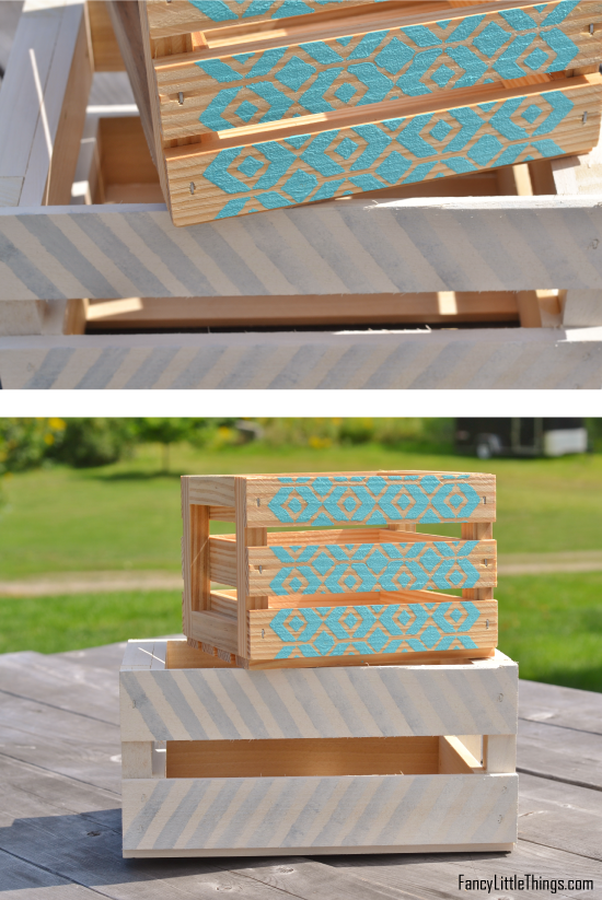 Simple Painted Wooden Crates Wooden Crates Diy Painting Crates