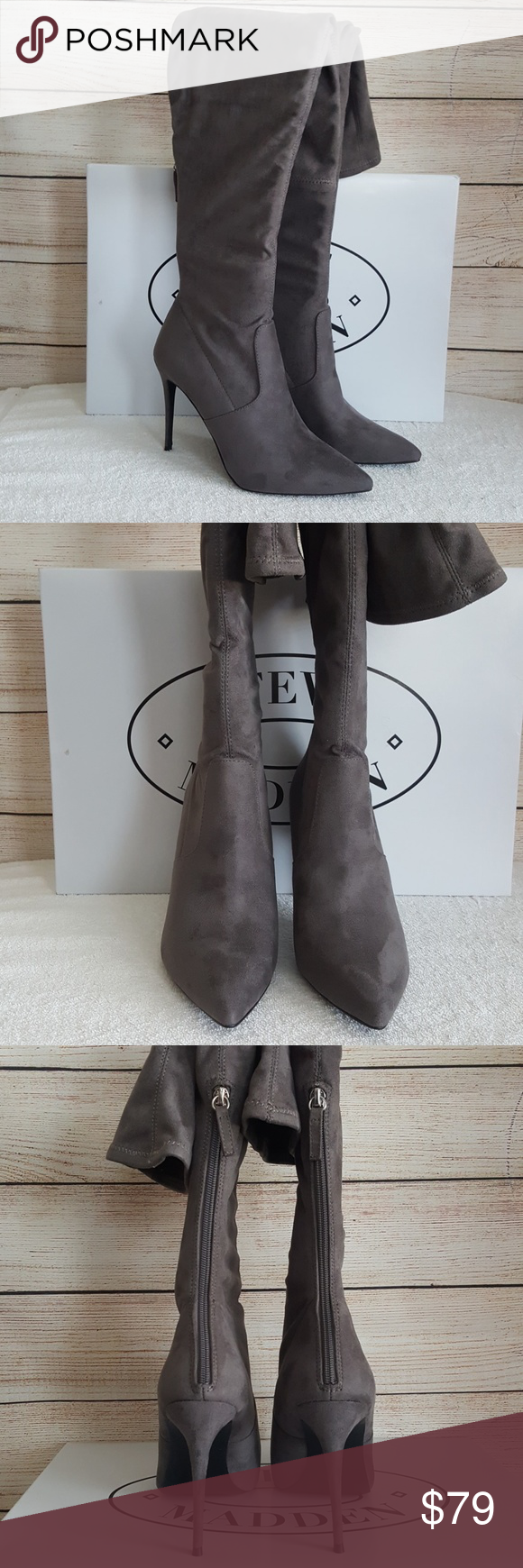 bcc9d275b2a New Steve Madden Devine Over The Knee Boot New never worn 4.5