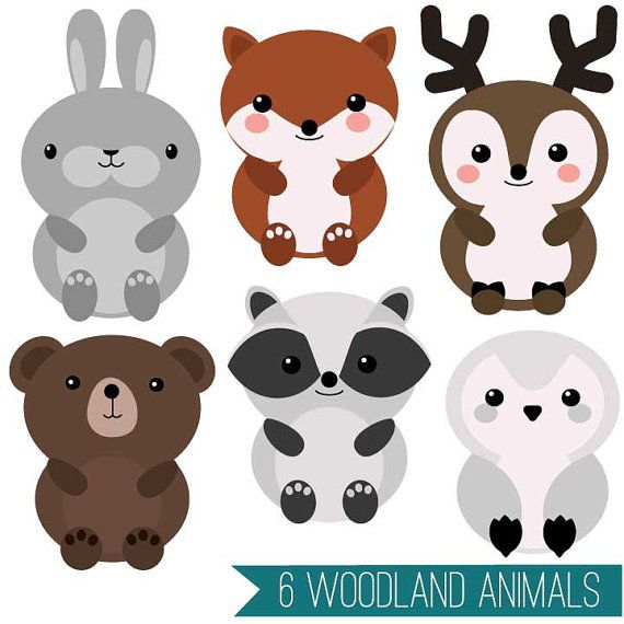 Cute Animal Clipart Set Mega Pack Of 20 Cute Animal Vector Graphics Woodland Farm Zoo Backyard Commercial Or Personal Use Hi Res Cute Animal Clipart Cute Animals Animal Clipart
