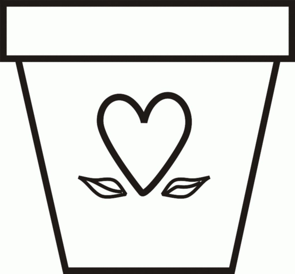Flower Pot Template Fresh Flower Template Coloring Page