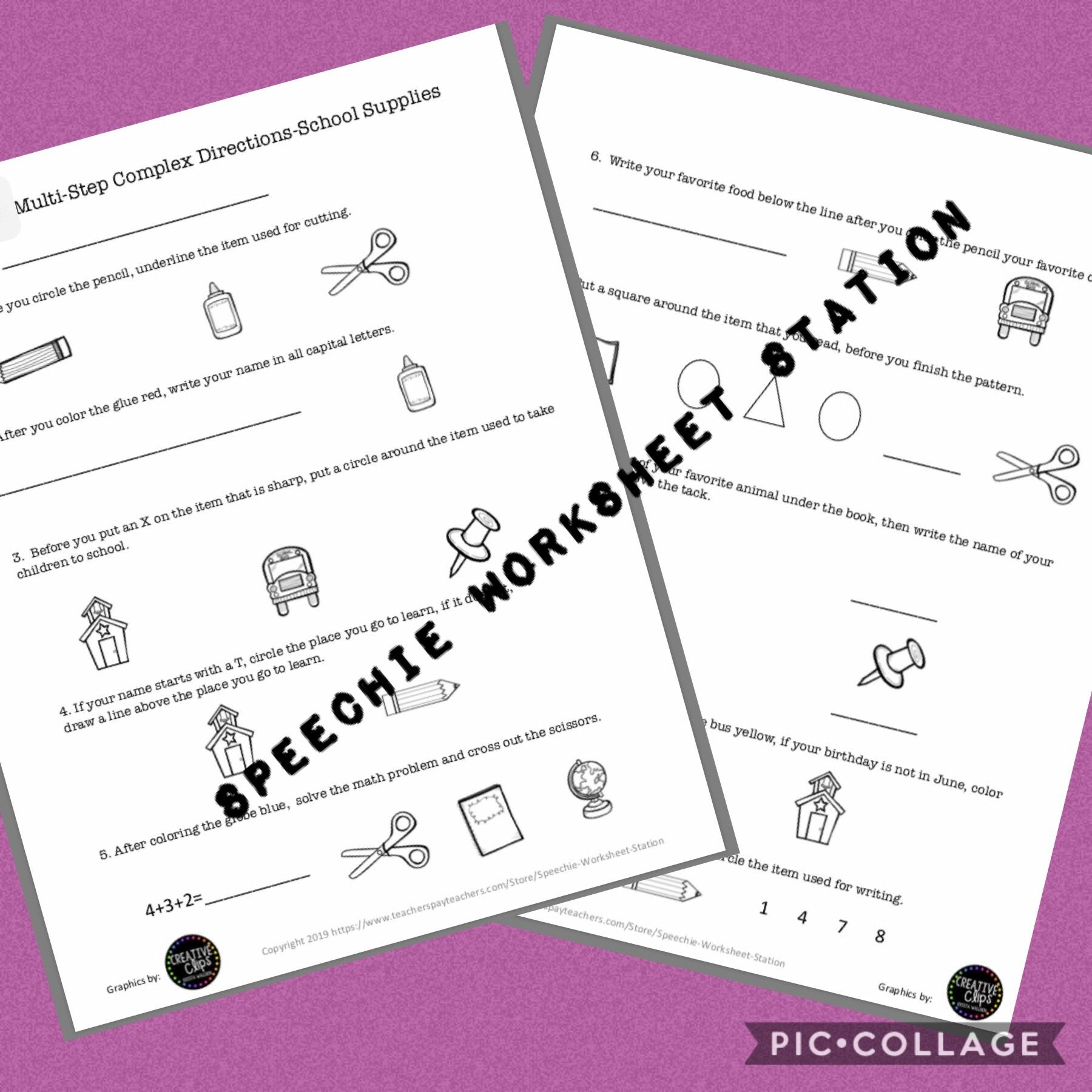 Following Multi Step Directions S
