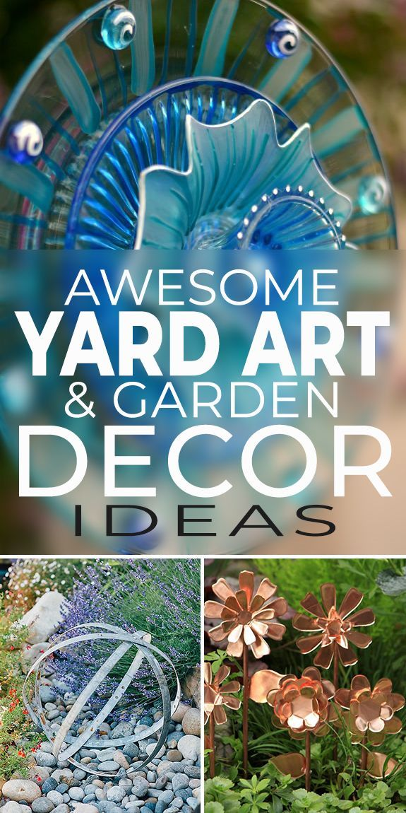 Awesome Yard Art & Garden Decoration Ideas is part of Garden art diy, Diy garden projects, Diy garden decor, Yard art, Beautiful gardens, Garden decor - Garden & yard art is a great way to add focus and interest in the garden  Create DIY garden decor for your garden, using these ideas for inspiration!