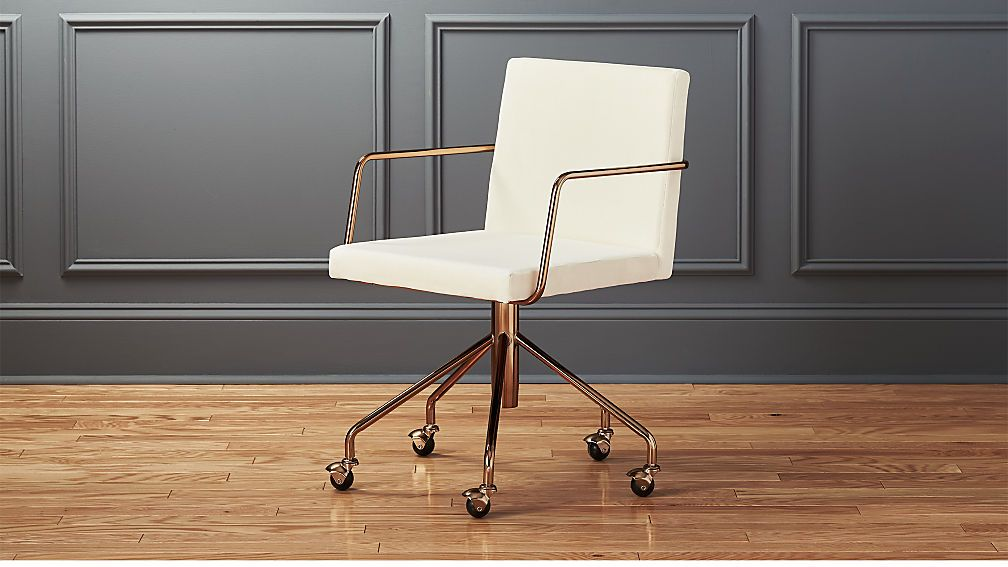 Rouka White Velvet Office Chair Office Guest Chairs Cheap
