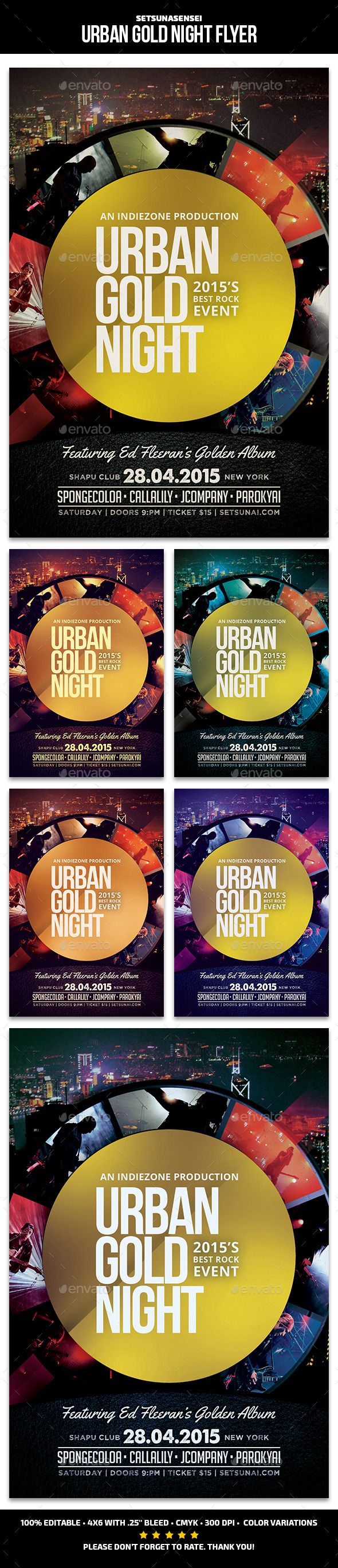 urban gold night flyer