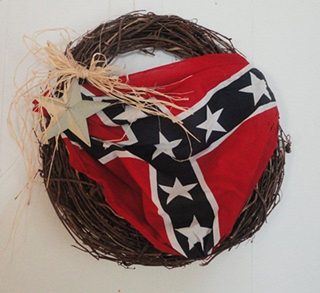 Wreath Door Wall Confederate Flag Southern Home Decor Fathers Day
